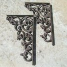Iron LEAFY Wall Shelf Braces Kitchen Island Corbels NEW Ec