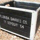Forida Dairies Wooden Dairy Crate 1954 Milk Garden