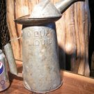 Galvanized Oil Can Metal Petroliana NYC-PA 2 Qt Type Q