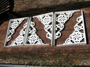 6 Cast Iron Wall Shelf Brackets Corbel VICTORIAN Braces ec