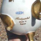Antique Hand Painted Porcelain Egg France MARKED 3 feet Gold 5 3/4 ec