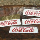 SIX Drink Coca Cola Soda Coke Sign plaque s 4 Porcelain 2 Brass ecr