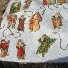 Lot of ELEVEN Vintage 1977 Santa Merrimack Christmas Ornaments ec