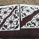 FOUR Cast Iron Braces Wall Shelf Architectural corbels brackets White ec