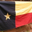 Texas cloth Flag Tea Stained Cotton Distressed Lone Star 58 L 32 T ec