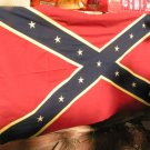 Cotton South Confederate Rebel Cloth Flag 58 x 32