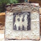 Antique Ceiling Tin Wall Tile western Art Kitchen Backsplash Cowboys Roping J5 ec