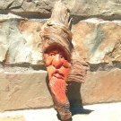 Hand carved HEAVY Pine Knot Gnome Wood Carving Tree Spirit 1471 ec