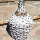 OLD Woven Wicker Italian Wine Bottle Jug Demijohn 1010 ec