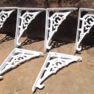 Six Cast Iron WHITE Braces Tiny Small Bracket Corbels 6 ec