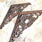 2 Cast Iron Braces Wall Shelf Island Architectural corbels brackets ec