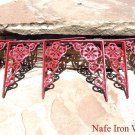 6 Small Cast Iron Wall Shelf Brackets Corbels VICTORIAN Braces RED