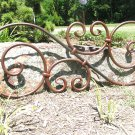Large Iron scrolled Door Window Headboard Valance Topper Pediment Medallion ec