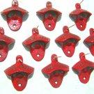 TEN RED Cast Iron Soda Beer Bottle Opener Drawer Cabinet pull s 10 ec