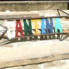 Recycled Junk Iron Metal Art Cantina Sign Arrow ec