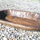 Hand Carved Wooden Dough Bowl Primitive TRENCHER 0769 ec