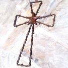 Rustic Barbed Wire Star Southwestern Wall Cross 0604 ec