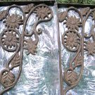 Cast Iron SUNFLOWER Wall Shelf Brackets Corbels Braces Ecr