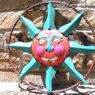 Recycled Junk Iron Sun Face Wall Hang Garden Art Sign 0634 ec