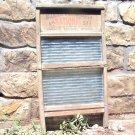 Antique Primitive NATIONAL 511 Washboard Wood Glass 86