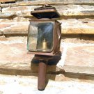 Antique Carriage Lamp Lantern Metal Iron Buggy Auto Beveled glass