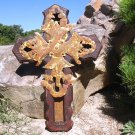 Large Iron Wood Cross unique christian Religious gift