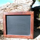 Chalkboard Wall Hang Shabby red wood with iron SEASONED ec
