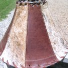 Leather Cowhide Lamp Shade Brown Western 1441 ec