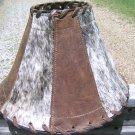 Large Western Leather Cowhide Lamp Shade Brown 0972 ec
