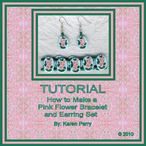 Polymer Clay Four Flower Jewelry TUTORIAL on PDF Emailed