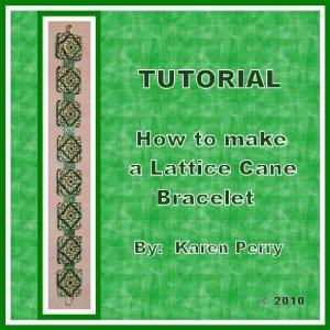 Polymer Clay Lattice Cane Bracelet TUTORIAL on PDF Emailed
