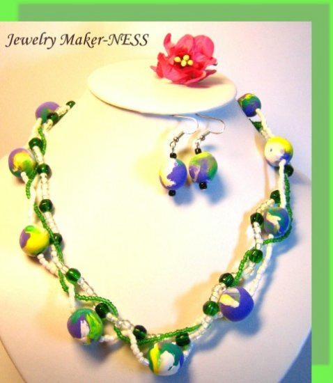 """Hand-made beads """"The Spring has come""""!"""