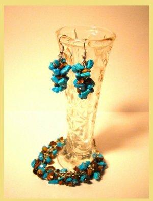 Bracelet & earings of stones