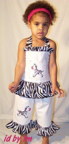 Miss Zebra 2 pc Custom Boutique Set 12M-5T