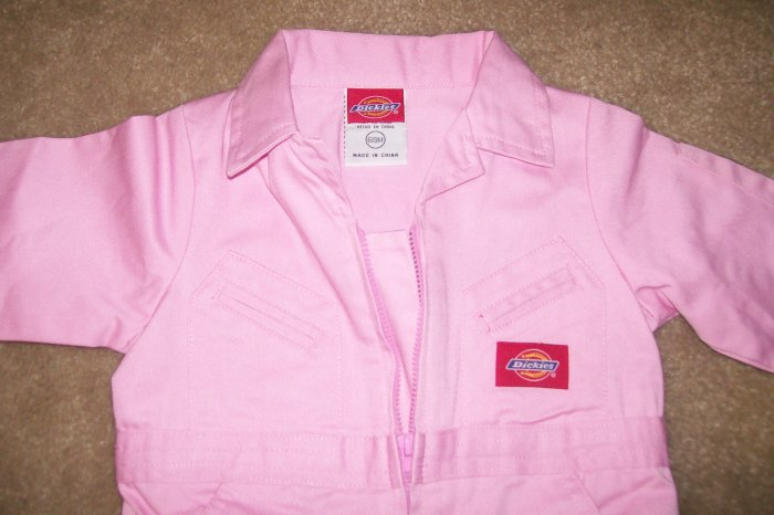NWT DICKIES 3/6 month overall set...PINK...UNIQUE