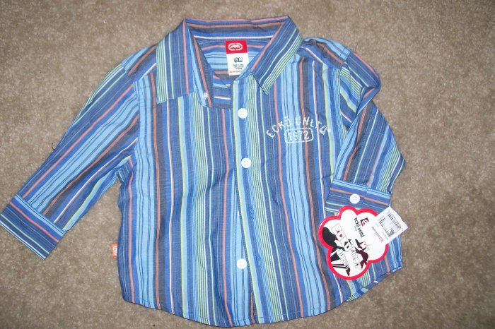 NWT ECKO POLO SHIRT & NWT ECKO BUTTON FRONT SHIRT BOTH SZ. 6MONTHS!!