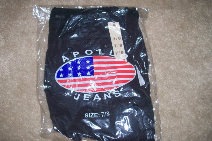 "ON SALE!! NWT 7/8 STRETCH ""APOLLO JEANS"" BLACK CAPRIS...SEXY! LAST PAIR LEFT!"