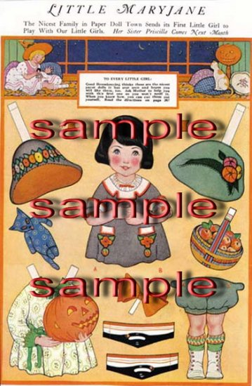 21 Pages of Vintage Paper Dolls to download now