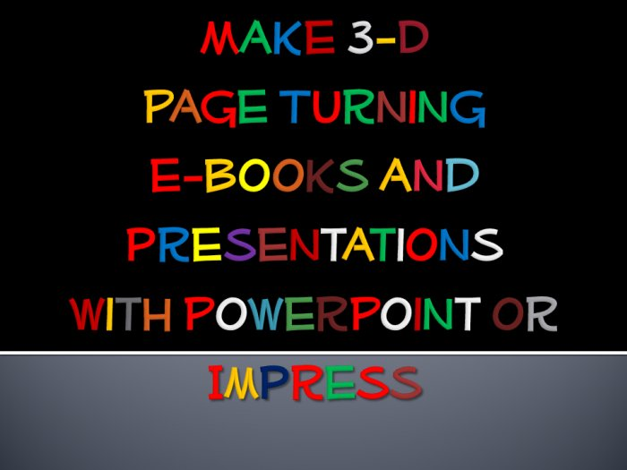 Make page turning ebooks with Powerpoint - download now