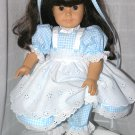 "18"" AMERICAN GIRL DOLL CLOTHES - PINAFORE; DRESS, PANTALOONS, TIES  www.exclusivelylinda.ecrater.com"