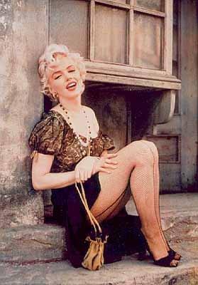 Marilyn Monroe Fishnet Stocking