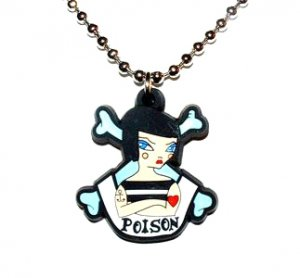 Tattoo girl Necklace Poison