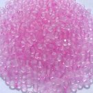 Vintage Matte 2 Tone Pink Fire Polish Czech Glass Beads 4mm