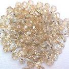Vintage Gold Line Fire Polish Czech Glass Bead 4mm