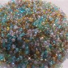 300 Vintage Green Aqua Mix Fire Polish Czech Glass Beads 4mm