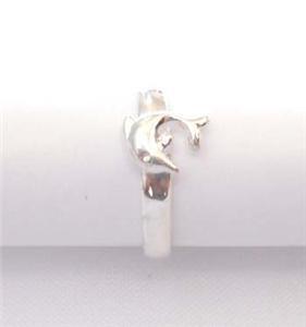 Hawaiian .925 Sterling Silver Toe Ring Dolphin