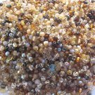 300 Vintage Brown Gold Mix Fire Polish Czech Glass Beads 3mm