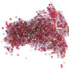 300 Red Hat Purple Mix Color Fire Polish Czech Glass Beads 3mm
