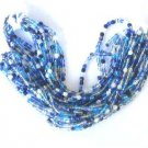 300 Blues Mix Color Fire Polish Czech Glass Beads 3mm with 2 Tone Color