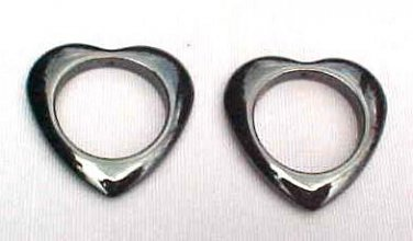Hematite Open Heart Pendant Top Hole 35mm (4)